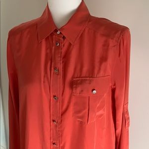 NWT Marc by Marc Jacobs Silk Button Down Shirt